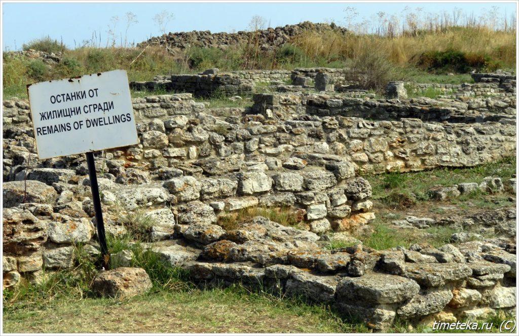 Древние руины Калиакры