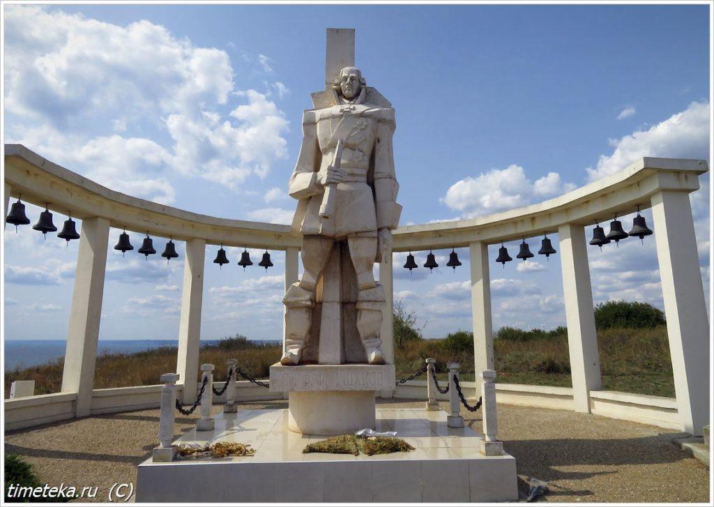 Памятник адмиралу Ушакову на мысе Калиакра, Болгария