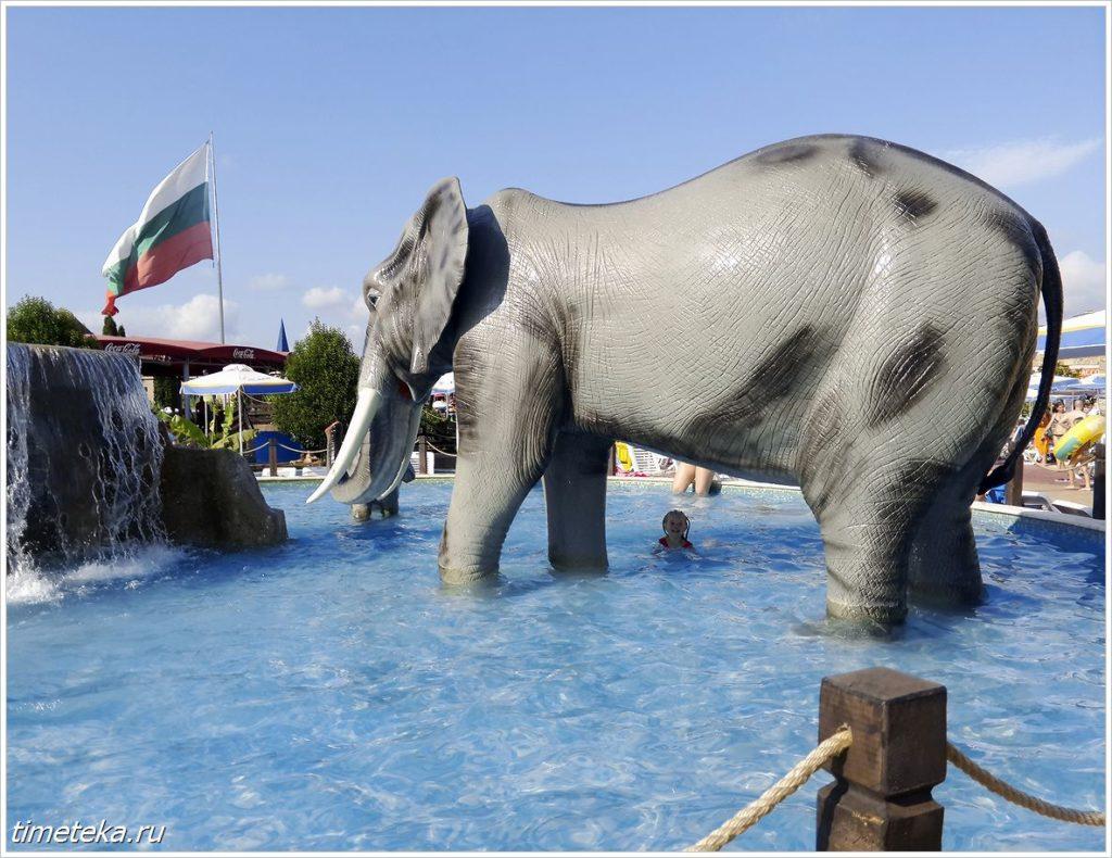 В аквапарке на Солнечном Берегу