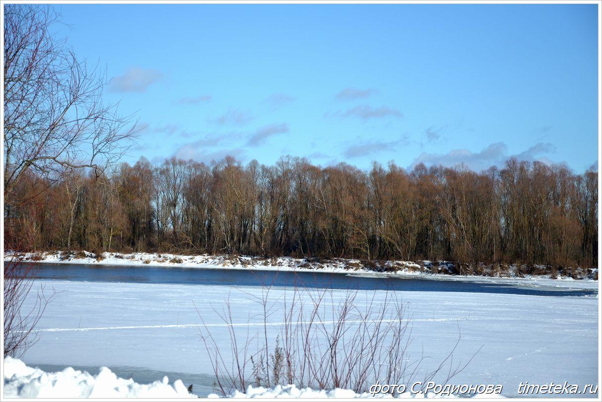 Беларусь, река Днепр зимой