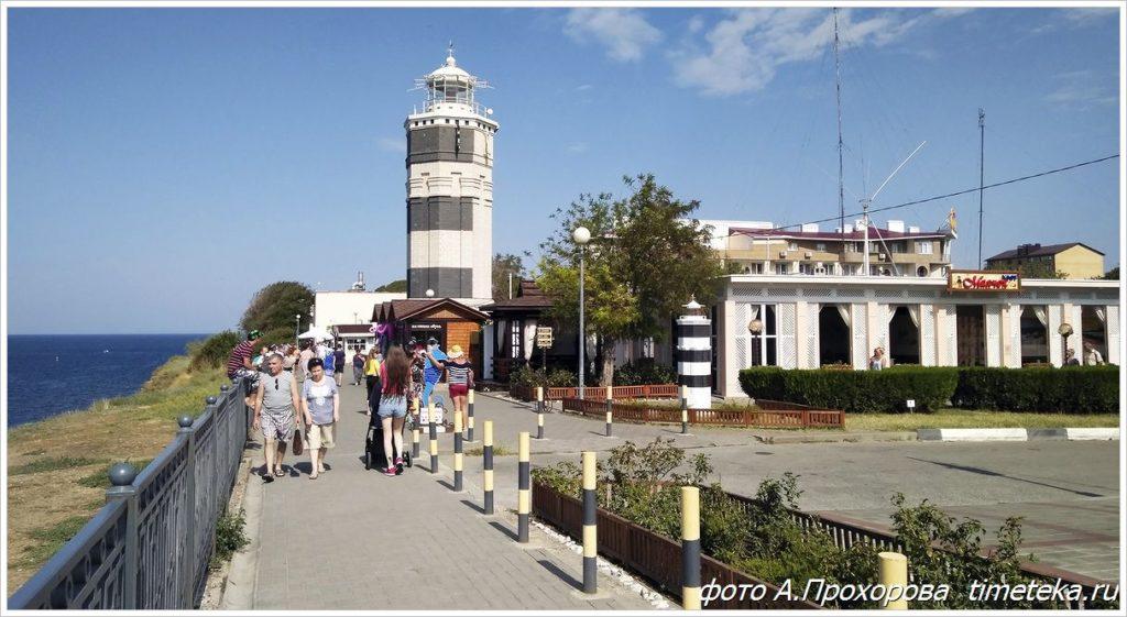 Набережная Анапы и маяк