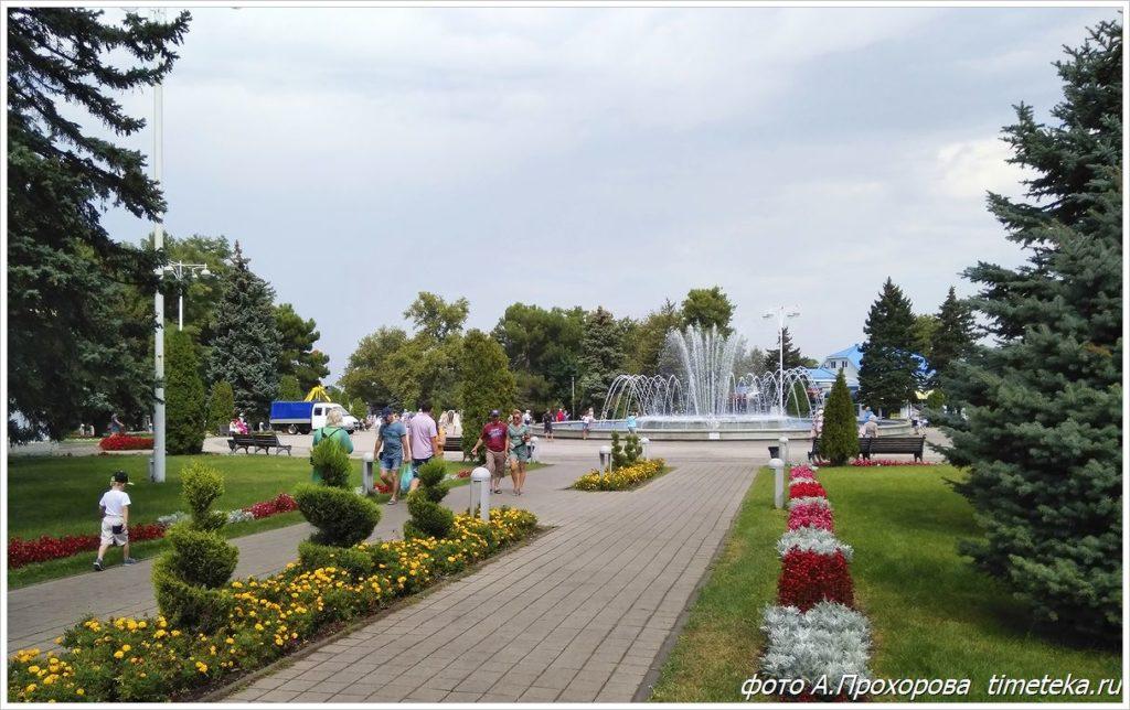 Анапа. Музыкальный поющий фонтан