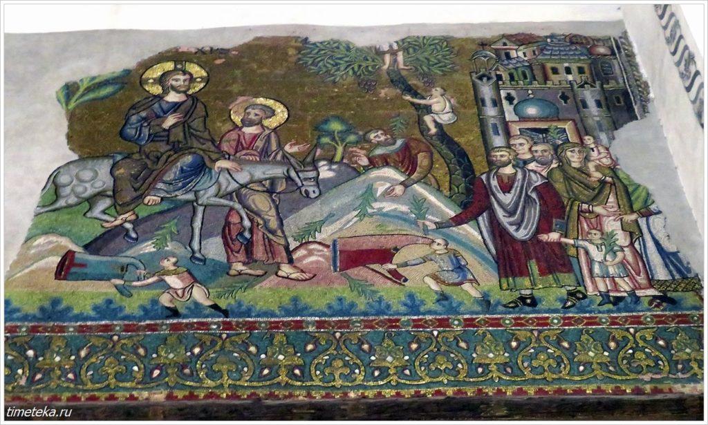 Настенная мозаика Храма Рождества Христова в Вифлееме