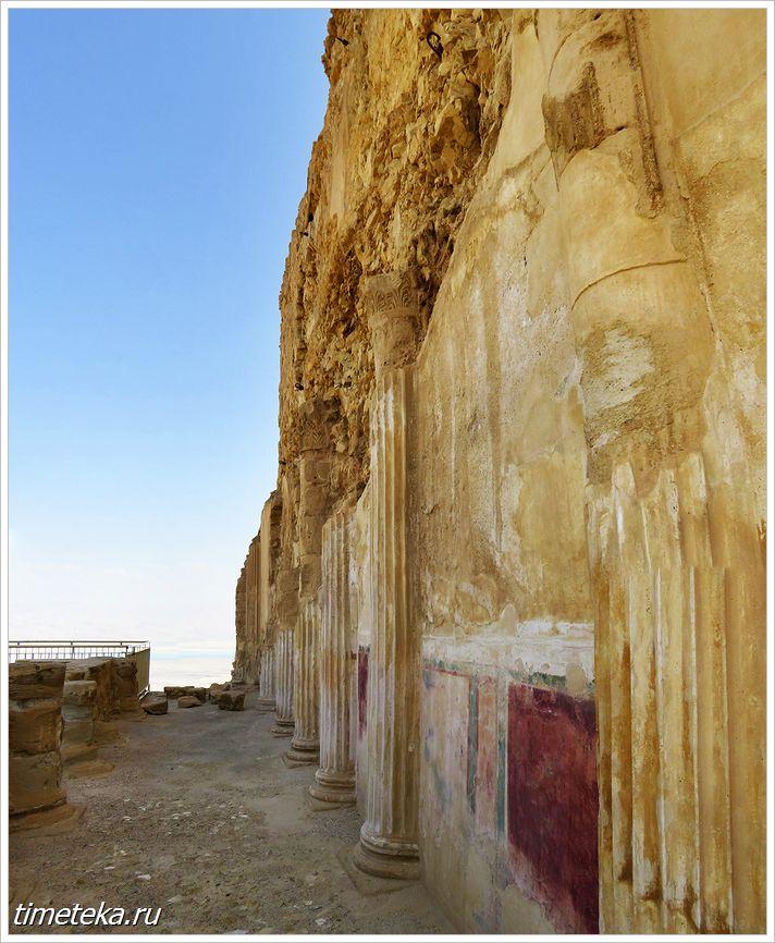 Стена одного из ярусов Северного дворца царя Ирода