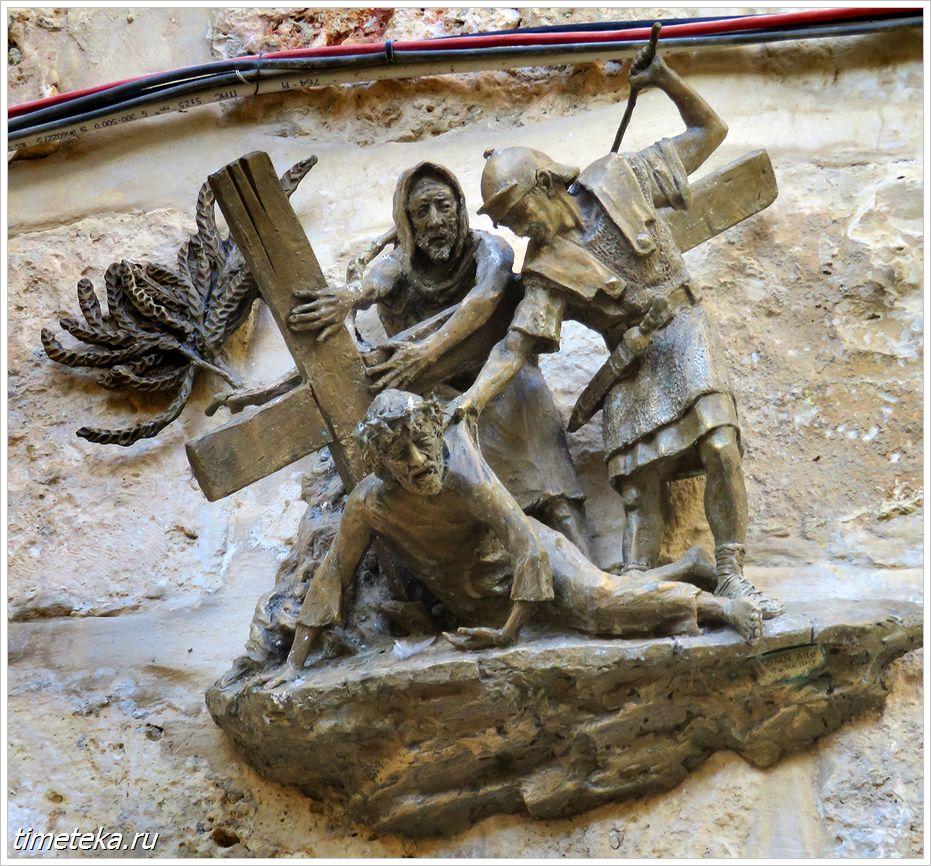 9-я остановка: место третьего падения Христа
