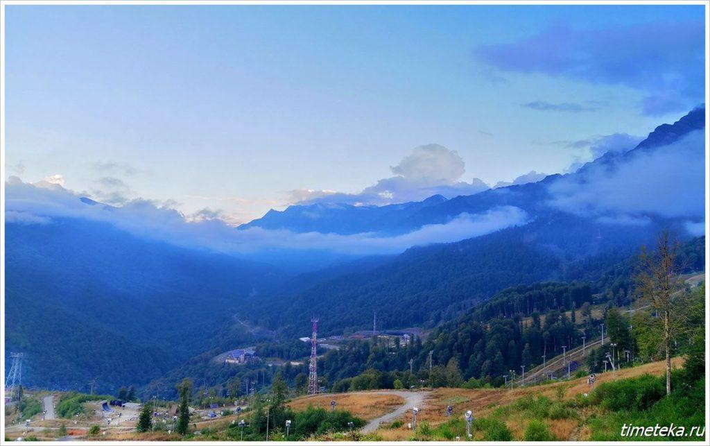 Панорама Кавказского хребта